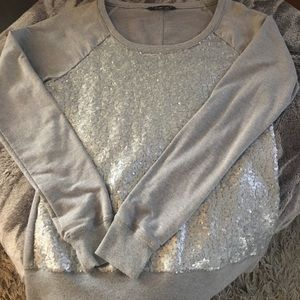Banana Republic sequin front sweatshirt- medium